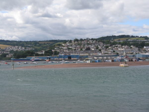 After having afternoon tea at the Mill we traveled to Andrew's favorite spot, Shaldon in Devon County. It is an idyllic village on the coast and it is a soothing and serene place.