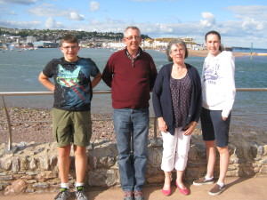 Here is Alex, Andrew, Helen and their youngest daughter Hannah at Shaldon. I've known Andrew for 33+ years and I cherish the friendship we've developed over the years.