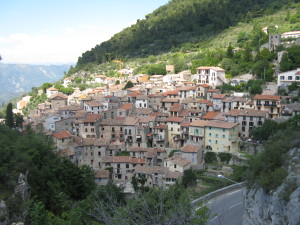 Here is the city where we started the climb. It dates back to Roman times.