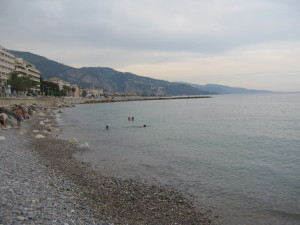 After the climb we went to chez Rizo for lunch and a bit of rest. Then we went on a long walk in Menton and followed it up with a refreshing swim in the Mediterranean.