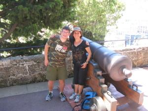 Alex with Marlene near the Monaco castle.