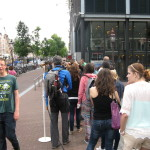 We also went by the Anne Frank museum but decided to skip it as the lines were long. The line above goes until the red awning in the background and also quite a ways to the right of the photo. We looked into making online reservations but the first openings are in next week.