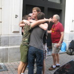 Our last full day in Europe. We parted company with the Texas Kobs about 9:30am and we headed to the train station for a leisurely 3 hour train ride to Frankfurt where we fly out of tomorrow. Here we have the cousins saying their good-byes.